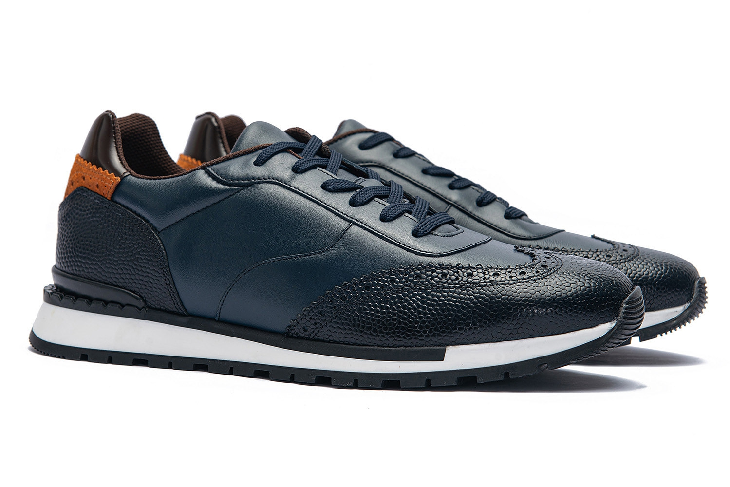 Navy Genuine leather Shoes 0