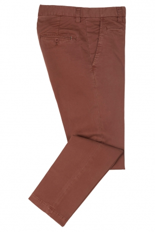Slim Orange Plain Trouser