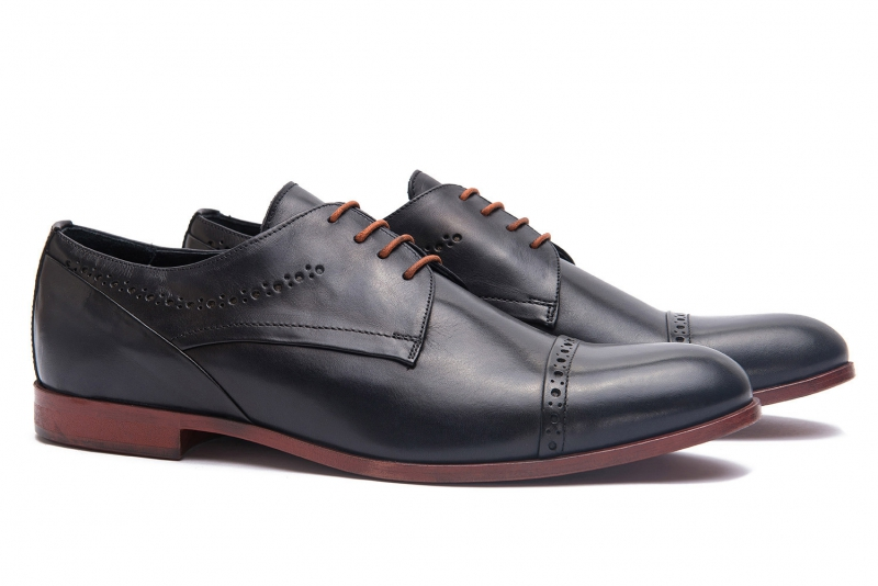 Navy Genuine leather Shoes