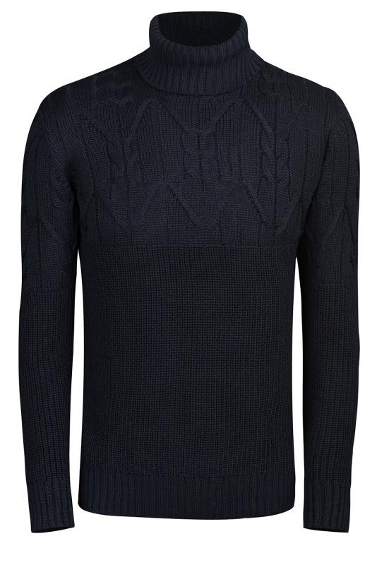 Slim Navy Sweater