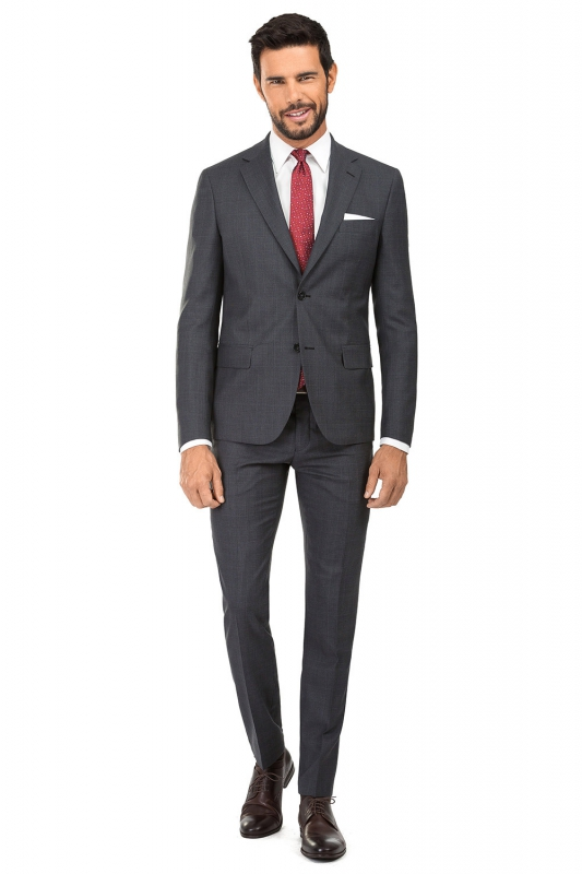 Slim Grey Check Suit