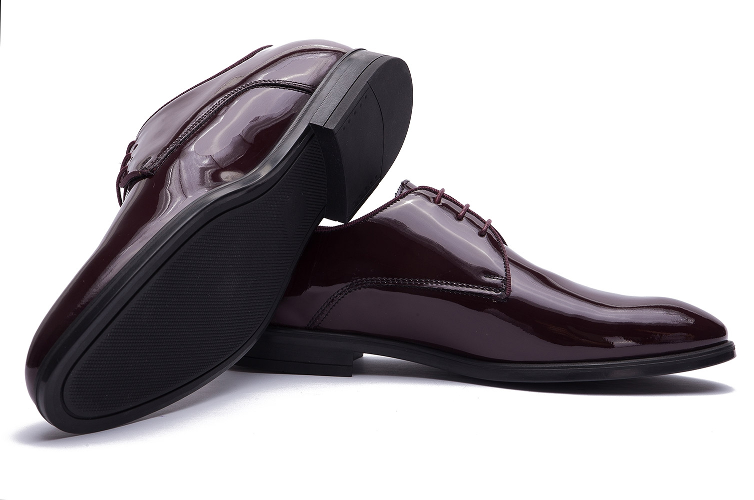 Burgundy Genuine leather Shoes 1