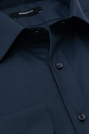 Shaped Navy Plain Shirt