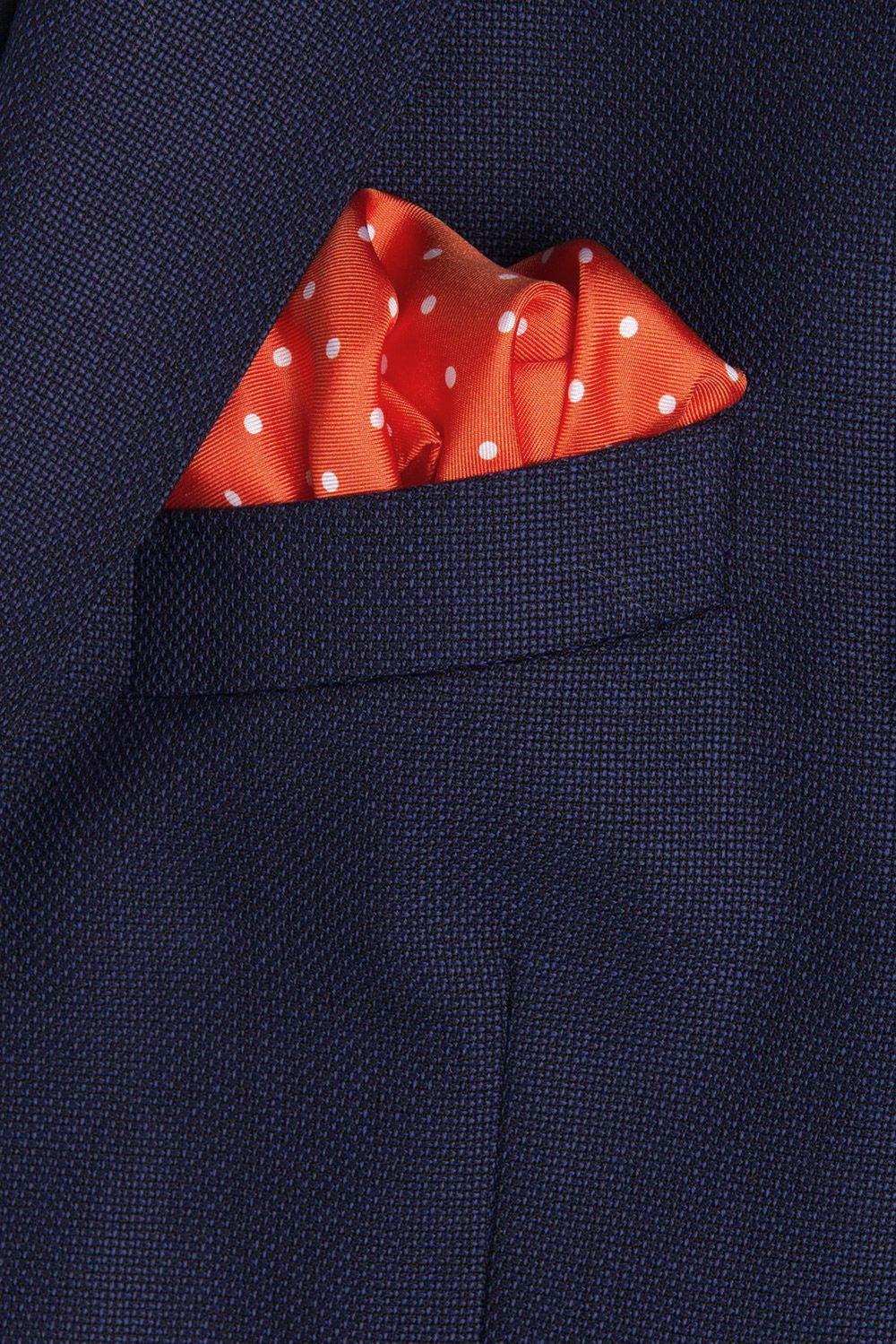Orange Pocket square 1