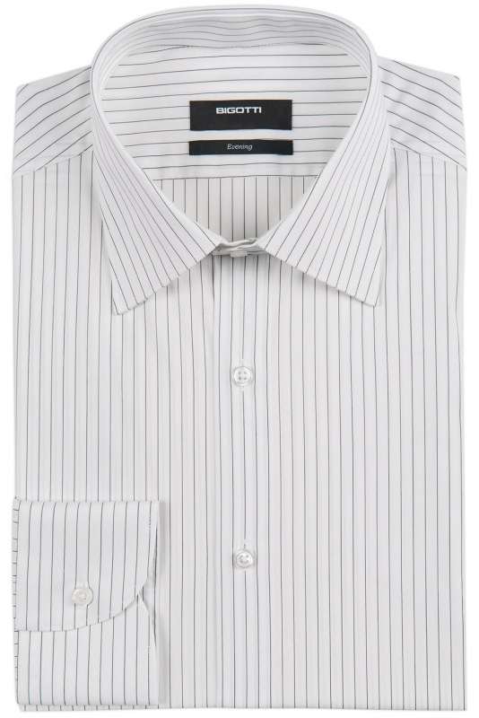 Slim White Stripe Shirt