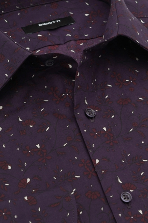 Slim Purple Floral Shirt