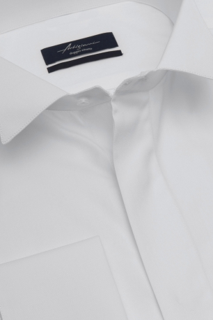 Comfort White Plain Shirt