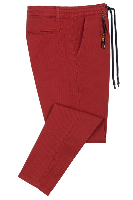 Confort(baggy) Red Plain Trouser