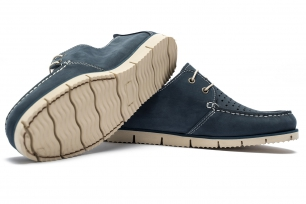 Navy Nubuck leather Shoes