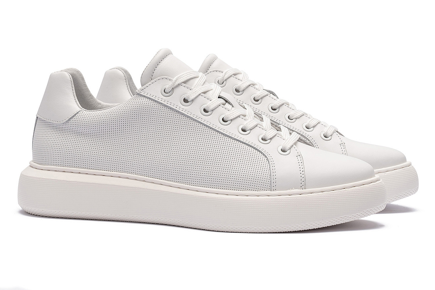 White Genuine leather Shoes 0