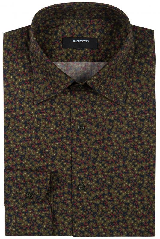 Slim Green Floral Shirt