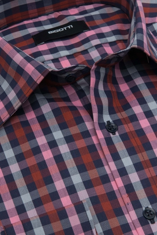 Superslim Pink Check Shirt