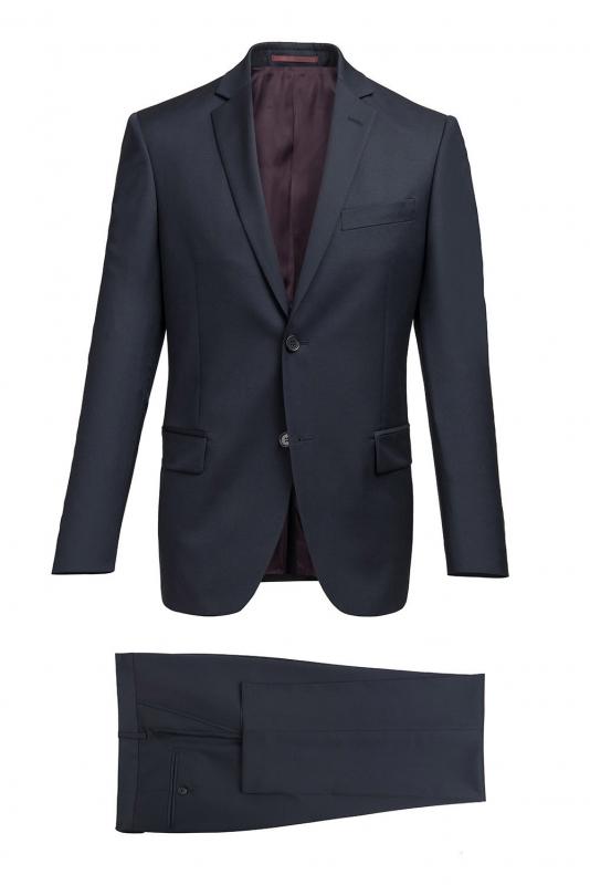 Regular Navy Plain Suit