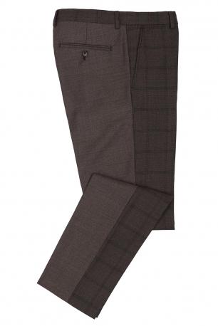 Slim Purple Plain Trouser