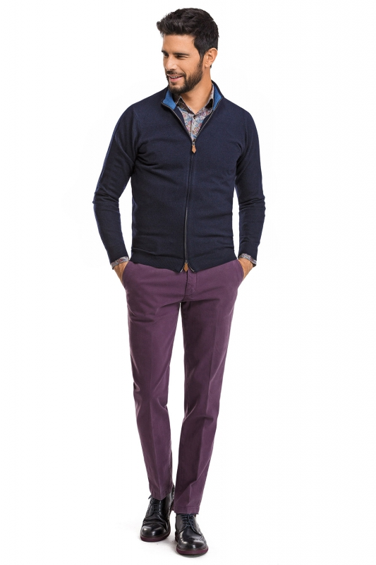 Purple Plain Trouser