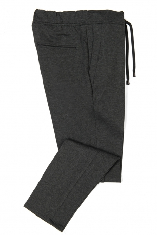 Slim Grey Plain Trouser