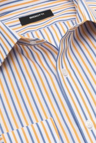 Slim Yellow Stripe Shirt