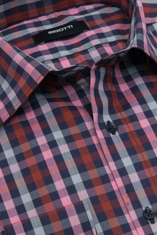 Slim Pink Check Shirt
