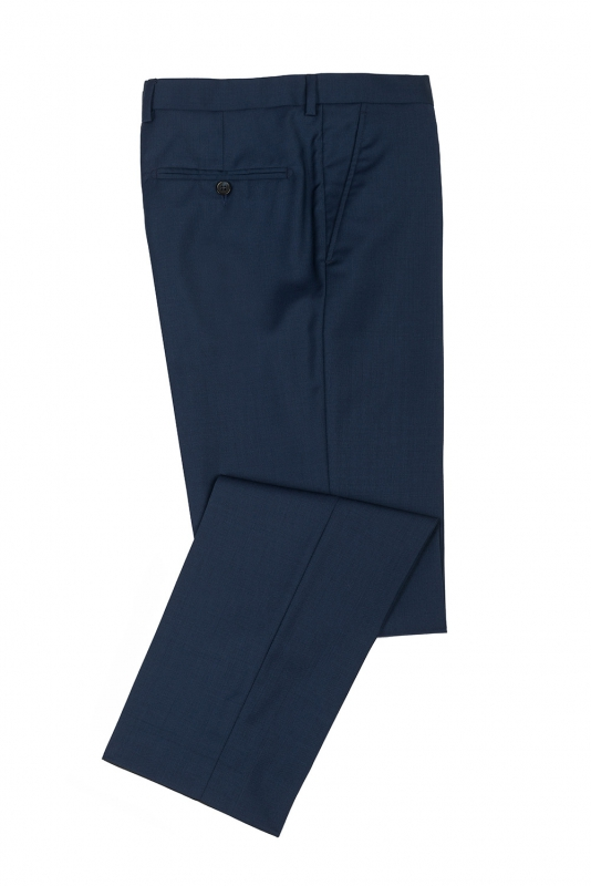 Slim Blue Plain Trouser