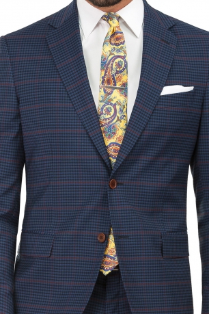 Superslim Blue Check Suit