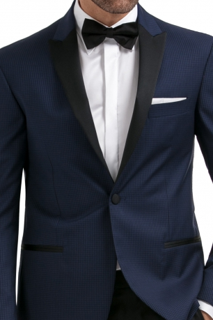 Navy Check Blazer
