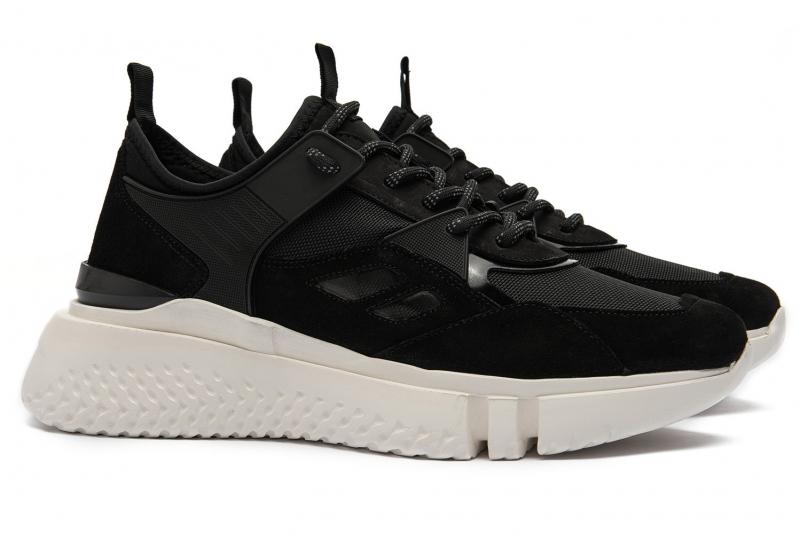 Black Piele nabuk, textil Shoes