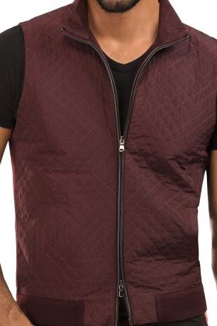 Slim Burgundy Plain Waistcoat