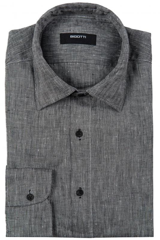 Superslim Grey Plain Shirt