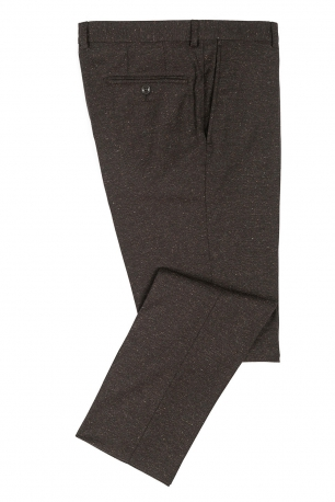 Superslim Brown Plain Trouser