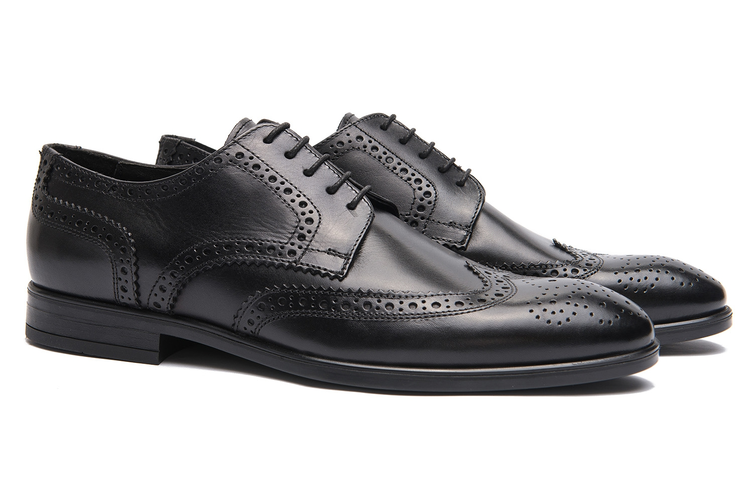 Black Genuine leather Shoes 0