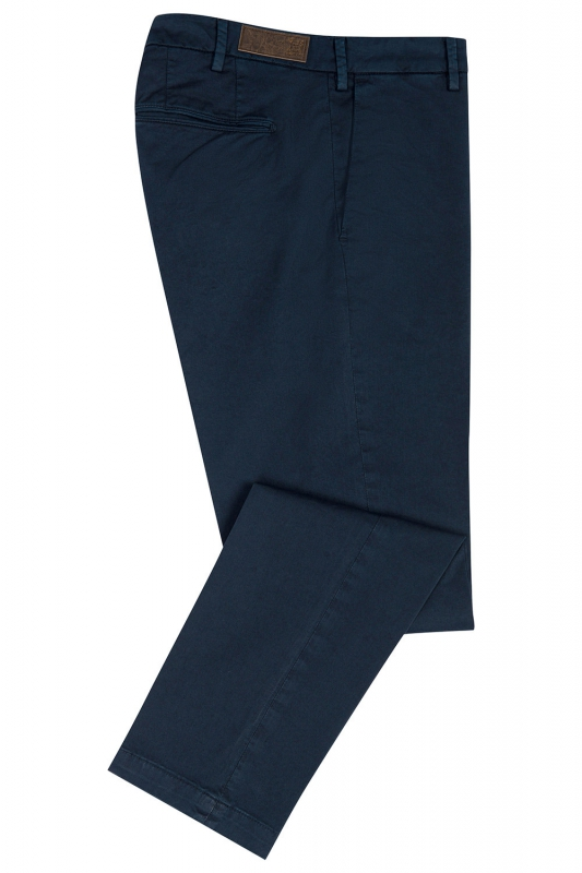 Regular Navy Plain Trouser