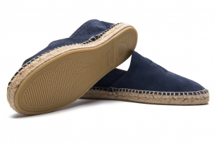 Navy Matt suede leather Shoes
