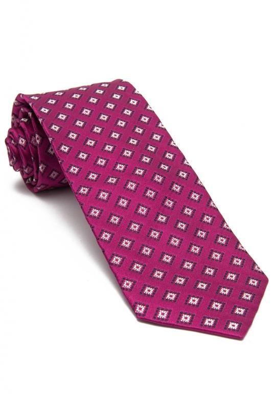 Pink Geometric Tie