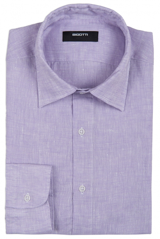 Superslim Purple Plain Shirt