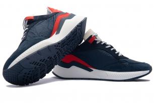 Blue Matt suede leather and textil Shoes