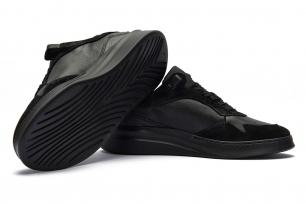 Black Piele naturala si piele intoarsa Shoes