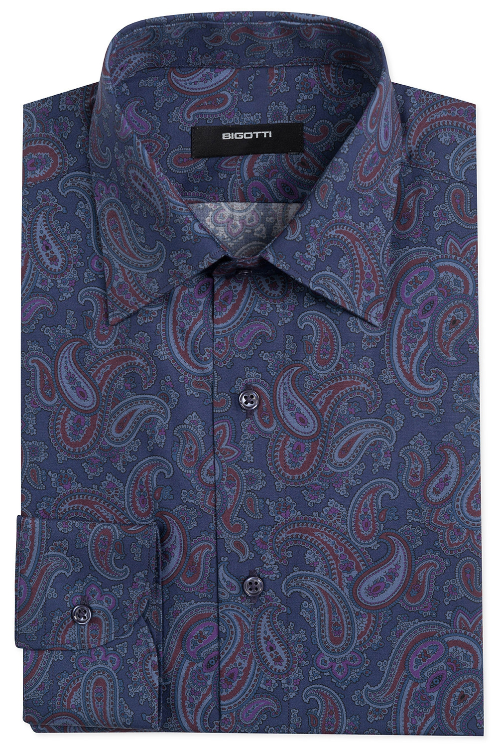 Shaped Blue Floral Shirt 0