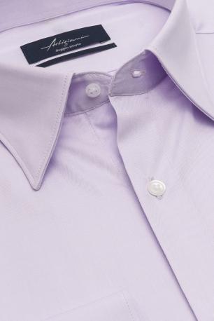Slim Purple Plain Shirt