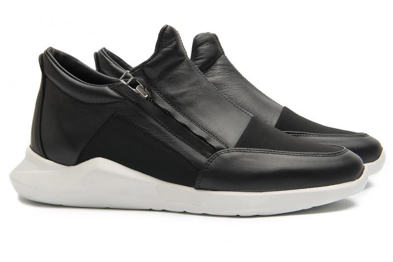 Black Piele, textil, nabuk Shoes