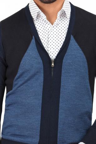 Slim Blue navy Sweater