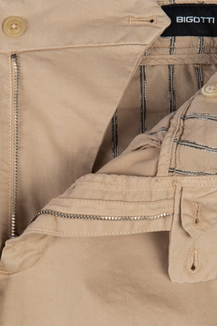 Regular Beige Plain Trouser