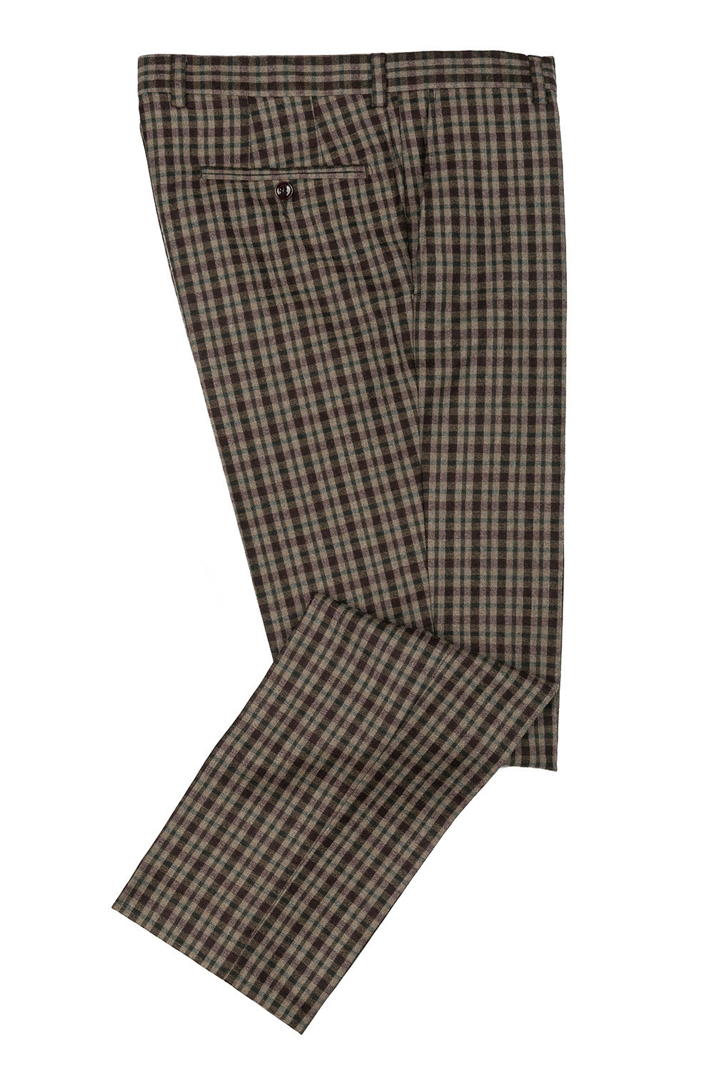 Superslim Beige Check Trouser 1