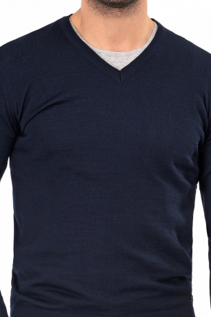 Slim Navy Sweater