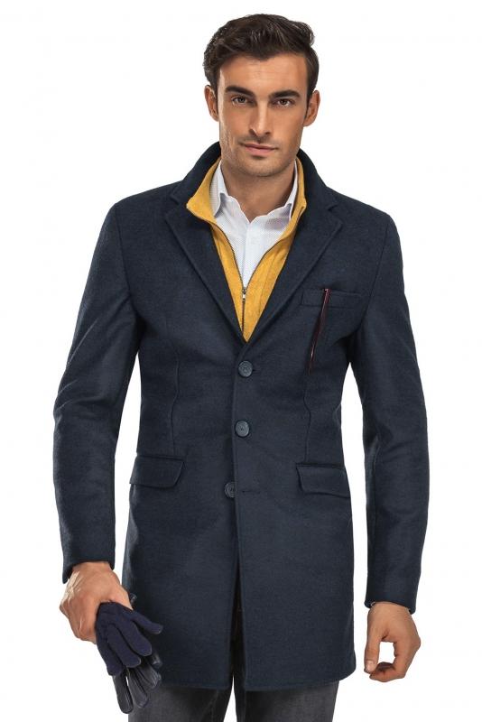 Navy Plain Coat