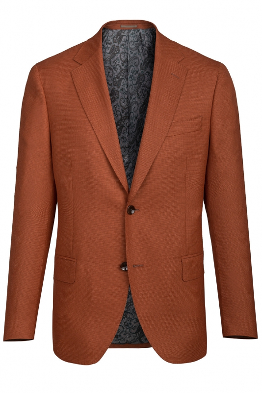 Orange Plain Blazer