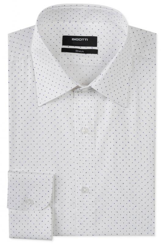 Superslim White Floral Shirt