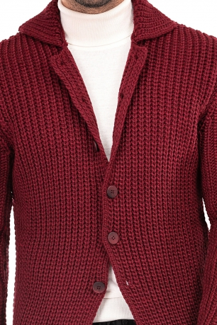 Slim Burgundy Sweater