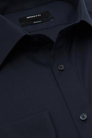 Superslim Navy Plain Shirt