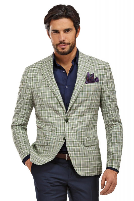 White Check Blazer