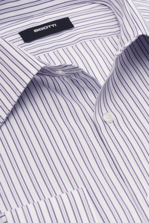 Superslim White Stripe Shirt